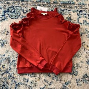 Dark red sweatshirt